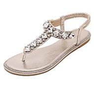 Χαμηλού Κόστους Γόβες ροζ χρυσό-Γυναικεία παπούτσια-Πέδιλα-Φόρεμα-Επίπεδο Τακούνι-Πλατφόρμες / Λουράκι στη Φτέρνα-Συνθετικό-Ασημί / Χρυσό