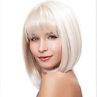 Syntetické paruky Volný Bílá Střih Bob / S ofinou Bílá Umělé vlasy 14 inch Dámské Bílá Paruka Střední Bez krytky