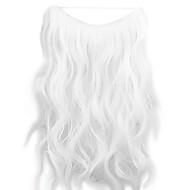 가발 흰색 45cm 합성 고온 와이어 곱슬 머리 조각 색 1001