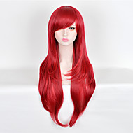 Perruque Synthétique Droit Style Sans bonnet Perruque Rouge Nouveau Violet Cheveux Synthétiques Femme Perruque Long Perruque Halloween