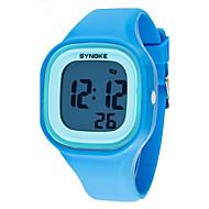SYNOKE Infantil Relógio de Pulso Quartzo LCD Calendário Cronógrafo Impermeável alarme Luminoso Plastic Banda Preta Branco Azul