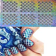 1set 24 styles nail art hollow stickers star heart flower colorful design nail beauty stzk01 24