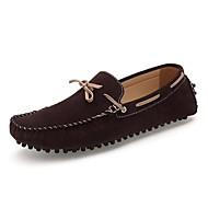 Férfi Vitorlás cipők Kényelmes Fordított bőr Tavasz Nyár Ősz Tél Esküvő Hétköznapi Party és Estélyi Lapos Kék Tópszín