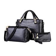 お買い得  バッグセット-女性用 バッグ PU バッグセット ジッパー のために フォーマル ブラック / ベージュ / イエロー