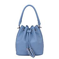 baratos Bolsas de Ombro-Mulheres Bolsas PU Tote / Bolsa de Ombro Tachas Cinzento / Azul / Rosa claro