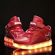 baratos Sapatos de Menino-Para Meninos-Tênis-Inovador Light Up Shoes-Rasteiro-Preto Azul Vermelho Branco-Couro-Casual