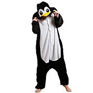 Kigurumi Pijamalar Penguen Strenç Dansçı/Tulum Festival / Tatil Hayvan Sleepwear Halloween Siyah beyaz Kırk Yama Polar Kumaş Kigurumi İçin
