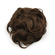 Kinky Curly Brown Hepburn Human Hair Capless Wigs Chignons 2/30