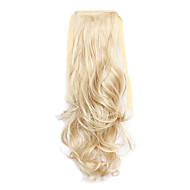 20 inch Light Blonde Clip In Wavy Curly Ponytails Tie Up Synthetic Hair Piece Hair Extension