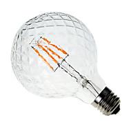 お買い得  LED電球-1個 4W 300-350 lm E26/E27 フィラメントタイプLED電球 G60 4 LEDの COB 装飾用 温白色 AC 220-240V