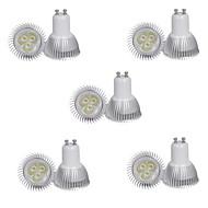 billige Spotlys med LED-10 stk 3w gu10 300-350lm varm / kul hvitt fargelys ledet spotlys (85-265v)