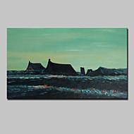 billiga Landskapsmålningar-Hang målad oljemålning HANDMÅLAD - Abstrakt / Känd / Landskap Klassisk Med Ram