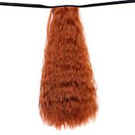 paryk maroon 50cm vand syntetisk høj temperatur wire hot majs padderok farve 119