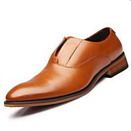 Bărbați Pantofi Piele Primăvară Vară Toamnă Iarnă Confortabili Noutăți Mocasini & Balerini Pentru Casual Party & Seară Negru Maro
