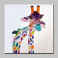 stort oljemaleri moderne abstrakte floret hjort dyr håndmalt lerret med strukket ramme klar til å henge