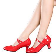 baratos Sapatilhas de Dança-Mulheres Sapatos de Dança Moderna Glitter / Sintético / Couro Envernizado Sandália / Salto / Têni Gliter com Brilho / Presilha / Fru-Fru