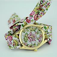 Dames Modieus horloge Armbandhorloge Kwarts Zwart / Blauw / Groen Analoog Dames Bloem Bohémien - Paars Groen Blauw Een jaar Levensduur Batterij / Tianqiu 377