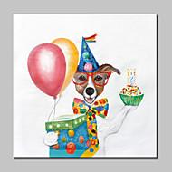 billiga Abstrakta målningar-Hang målad oljemålning HANDMÅLAD - Abstrakt / Djur / fantasi Moderna Med Ram
