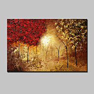 Large Hand-Painted Landscape Trees Oil Painting On Canvas Wall Art Picture One Panel With Frame Ready To Hang