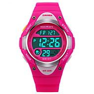 SKMEI Børne Digital Watch Modeur Sportsur Digital Alarm Kalender Kronograf Vandafvisende Stopur LCD Selvlysende Gummi Bånd Sej Sort Blåt