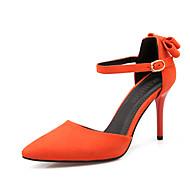 נעלי נשים-בלרינה\עקבים-פליז-עקבים / נוחות / שפיץ-שחור / ורוד / אדום / כתום-משרד ועבודה / שמלה / קז'ואל-עקב סטילטו