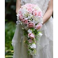 "Bouquets de Noiva Buquês Casamento Festa / Noite Seda Organza Cetim 12.6""(Aprox.32cm)"