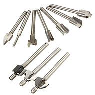 """1/8 """"roteador 3 milímetros de cortador de madeira de moagem encaixa 10pcs conjunto de ferramentas rotativa Dremel"""