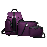 cheap Bags-Women's Bags Nylon School Bag / Travel Bag / Backpack 3 Pcs Purse Set Purple / Fuchsia / Blue / Bag Set