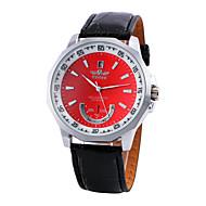 お買い得  機械式腕時計-WINNER 男性用 自動巻き 機械式時計 ドレスウォッチ カジュアルウォッチ PU バンド チャーム ブラック