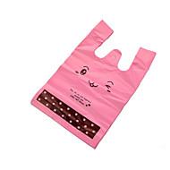 pe de compras saco de embalagem de presente cosméticos mão bolsa de supermercado pequeno plástico colete saco, um pacote de 100