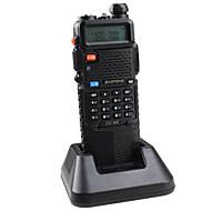 BAOFENG UV-5R-5W+3800L-black Walkie-talkie 4W / 1W (Max 5W) 128 136-174 mHz / 400-520MHz 3800mAh 3-5 kmFM-radio / Nød Alarm /