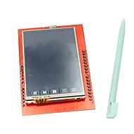 hesapli Ekranlar-arduino uno için dokunmatik kalem ile 2.4 inç TFT LCD dokunmatik ekran kalkanı