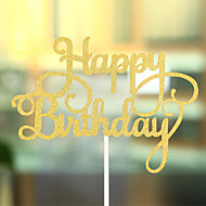 Figure za torte Plaža Teme Klasični Tema Hearts Kartica papira Rođendan s Mašnica 1 OPP