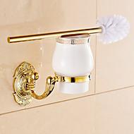Toilet Brush Holder Bathroom Gadget Neoclassical Brass 6cm 13cm Toilet Brush Holder