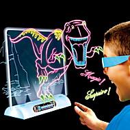 Piirustustabletit LED 3D Dinosaurus Birthday Lasten Joulu Syntymäpäivä Lahja