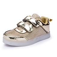 Para Meninas sapatos Tricô Paetês Courino Outono Inverno Conforto Solados com Luzes Tênis com LED Tênis Lantejoulas Velcro Colchete Para