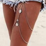 Lag-på-lag / Kvast Krops Kæde / mavekæde / Benkæde Tassel, Europæisk, Bikini Dame Sølv Kropssmykker Til Julegaver / Daglig / Afslappet