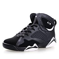 Masculino-Tênis-Conforto-Rasteiro-Roxo Preto e Vermelho Preto e Branco-Microfibra-Ar-Livre Casual Para Esporte