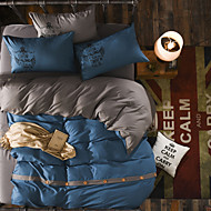 cheap Contemporary Duvet Covers-Duvet Cover Sets Solid Colored Polyester Reactive Print 4 Piece