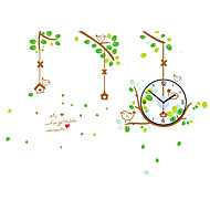 Moderne/Contemporain Traditionnel Décontracté Rétro Bureau / Affaires Fleurs / Botaniques Animaux Famille Dessin animé Horloge murale,