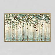 billige Innrammet kunst-Håndmalte Abstrakt / Blomstret/Botanisk olje malerier,Moderne Et Panel Lerret Hang malte oljemaleri For Hjem