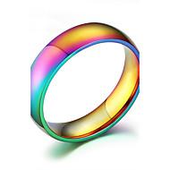 Gyűrűk Divat Napi / Hétköznapi Ékszerek Rozsdamentes acél Karikagyűrűk 1db,6 / 7 / 8 / 9 / 10 Különböző színekben