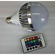 billige Globepærer med LED-700-900 lm E26 / E27 LED-globepærer G80 1 LED perler Høyeffekts-LED Fjernstyrt RGB 85-265 V / 1 stk.