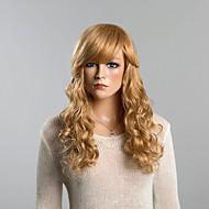 baratos -topo ondulado longo mel perucas de cabelo humano loiro
