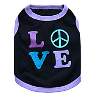 cheap Cat Clothing & Accessories-Cat Dog Shirt / T-Shirt Dog Clothes Heart Black and Purple Pink Cotton Costume For Pets Men's Women's Fashion