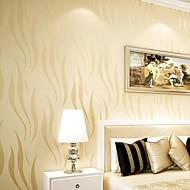 Stripe / Art Deco Bakgrunn Moderne Tapetsering , Ikke vævet papir Materiale selvklebende nødvendig bakgrunns , Room wallcovering