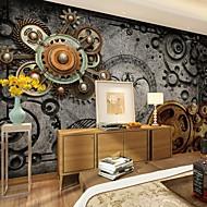 Blomster Art Deco Tapet til Hjemmet Retro Rød Tapetsering , Lerret Materiale selvklebende nødvendig Veggmaleri , Tapet