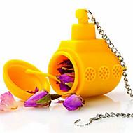 1pc chá submarino amarelo folhas soltas ervas tempero infusor tempero silicone