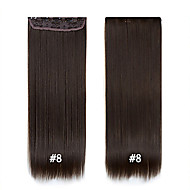 "Best Quality Straight Synthetic Clip In Hair Extensions  24""/60cm 120g 5clips/set Heat Resistant Fiber Synthetic"