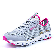 kvinners joggesko tyll flat hæl komfort mote joggesko atletisk blå / grønn / grå / fuchsia